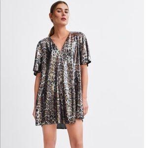 ⭐️⭐️Zara sequined animal print cocktail dress